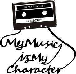 cassette typography