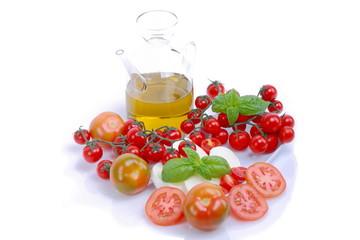 Pomodori,olioe mozzarella