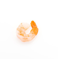 Shrimp isolated on white