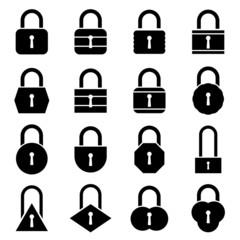 Lock icon set. Vector Illustration