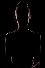 portrait of woman in shadow