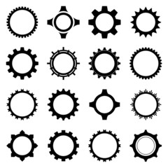 Gear icon set. Vector Illustration