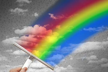 Regenbogen schlechtes Wetter © Matthias Buehner