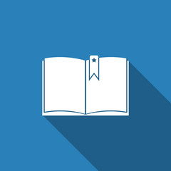 book icon with long shadow