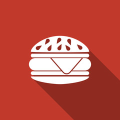 burger icon with long shadow
