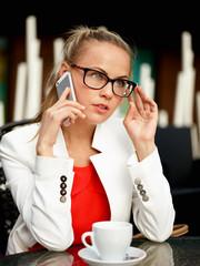 Business woman outside on a break