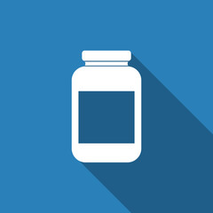 jar icon with long shadow