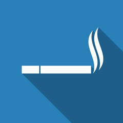 smoking icon with long shadow