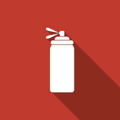 spray icon with long shadow