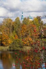 золотой осенью на берегу озера