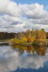 осень на берегу озера
