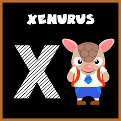 The English alphabet letter X, Xenurus