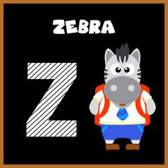 The English alphabet letter Z, Zebra