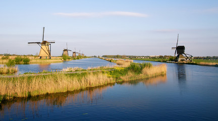 Dutch windmills in Kinderdijk, Netherlands