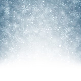Fototapety Christmas background with fallen snowflakes.
