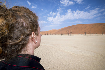 Ammirando il deserto