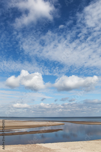 Clouds over Baltic sea. - 71428451