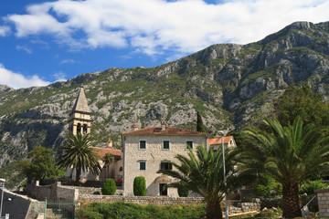The old church of St. Matthew on Kotor Riviera. Montenegro