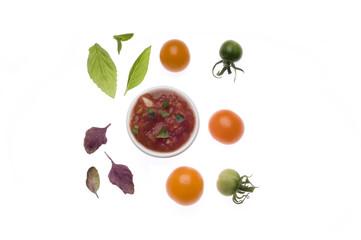 Grillsauce mit Tomaten und Knoblauch