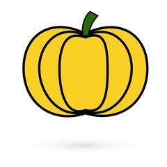 Icon pumpkin. Raster.