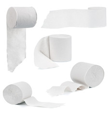 Set of toilet paper