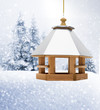 canvas print picture - Vogelhäuschen im winter