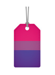 label with a bisexual pride flag
