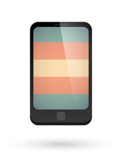 smartphone with a transgender pride flag