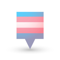 tooltip with a transgender pride flag