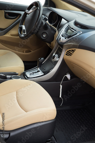 canvas print picture Luxury car interior