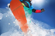 Zdjęcia na płótnie, fototapety, obrazy : Jumping snowboarder