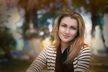 Young Woman Autumn Portrait