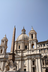 Saint Agnese in Agone in Piazza Navona, Rome, Italy