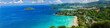 canvas print picture - Bird-eye panorama of Phuket coastline on sunny day