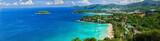 Bird-eye panorama of Phuket coastline on sunny day - 71431690