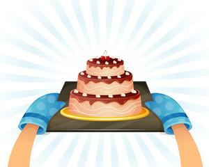 Sweet chocolate cake