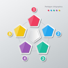 paper polygon infographics