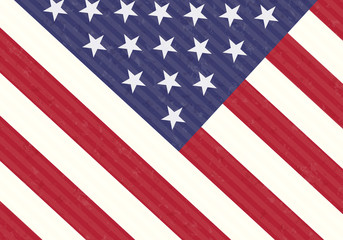 Detail of USA Flag