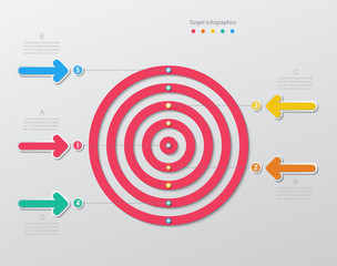 paper target infographics