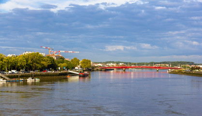 The Adour river in Bayonne - France