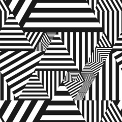 Abstract seamless, simple, striped geometric triangle background