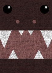 Halloween monster banner on the shabby background