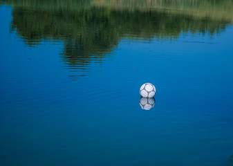 ball in water