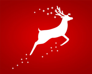 Reindeer with stars