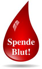 Spende Blut Bluttropfen