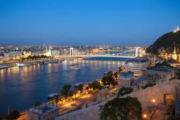 Elisabeth Bridge over Danube river