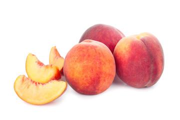 Fresh juicy peach isolated on white background