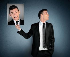 Man laugh at crazy face