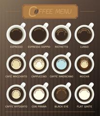 Coffee Menu Vector Illustration