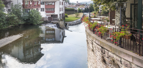 Saint Jean Pied de Port town in France